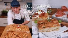 Péksuli Szabival: Szőlős és olívás focaccia | Mindmegette.hu Banana Bread, French Toast, Lime, Youtube, Breakfast, Health, Desserts, Food, Backen
