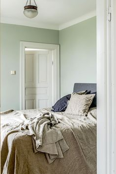 New Bedroom Paint Colors 15 Calming Colors Soothing and Relaxing Paint Colors for Light Green Rooms, Grey Green Bedrooms, Green Bedroom Paint, Small Bedroom Colours, Best Bedroom Paint Colors, Green Painted Walls, Bedroom Color Schemes, Paint Colors For Living Room, Tan Bedroom