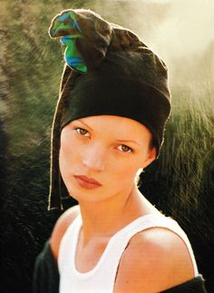 Kate Moss photographed by Albert Watson for Vogue Germany, June 1993.