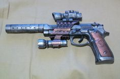 STEAMPUNK SPACE CAPTAIN Pistol - Han Solo Star Wars Gun. $23.99 USD, via Etsy.