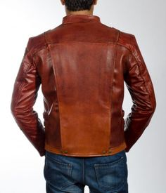 Mars Maroon Leather Jacket Brown Leather Jacket Men, Star Lord, Mars, Custom Made, Motorcycles, How To Wear, Jackets, Stuff To Buy, Ideas