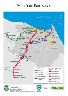"""El Metro de Fortaleza, también conocido como """"Metrofor"""" es un sistema de metro ubicado en la ciudad de Fortaleza, Brasil; está planeada su expansión para dar servicio a toda la población de la Región Metropolitana de Fortaleza (Fortaleza, Maracanaú, Caucaia, Pacatuba), con seguridad, agilidad y confort. Tiene una longitud de 43 kilómetros y actualmente cuenta con 2 líneas y 28 estaciones. Es operado por la Compañía Cearense de Transportes Metropolitanos. METROFOR comenzó sus operaciones…"""