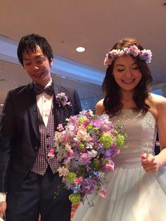 新郎新婦様からのメール ヨコハマ グランド インターコンチネンタルホテル様への挙式ブーケ : 一会 ウエディングの花