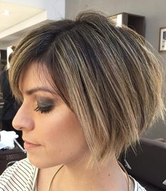 Brown+Bob+With+Blonde+Babylights