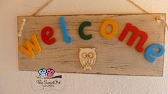 Plaquinha decorativa WELCOME sob encomenda
