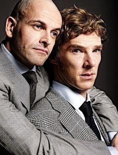 """Jonny Lee Miller & Benedict Cumberbatch (pictured) alternated the roles of Victor Frankenstein & the Creature in the London play """"Frankenstein"""" circa 2011. The two men have both also played Sherlock Holmes. (S.P.)"""
