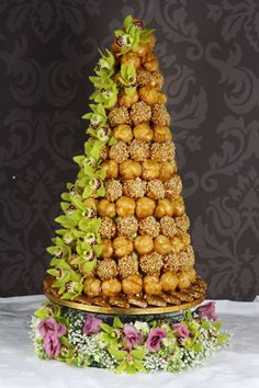 Fresh Flower Croquembouche