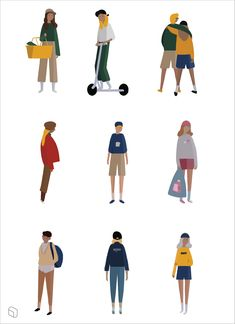 Flat Vector Pastel People Illustrations for Archit… Flat Illustration, Character Illustration, Cut Out People, People Cutout, Design Elements, Illustrations Pastel, People Illustrations, Character Design, Presentation