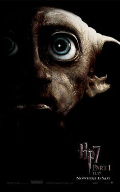 11x17 Inch This Harry Potter and The Deathly Hallows Part 1 Movie Poster features a close-up of Dobby the House Elf. Get it now at http://harrypottermovieposters.com/product/harry-potter-and-the-deathly-hallows-part-1-movie-poster-style-k-11x17-inch-mini-poster/