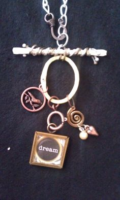 SALEMixed metal charm necklace by AdelaidsCreations on Etsy, $10.00