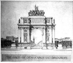 Helme & Corbett's project for an Arch of Demorcacy, Brooklyn ARCHI/MAPS : Photo