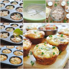 Mini Chicken and Cheese Pies
