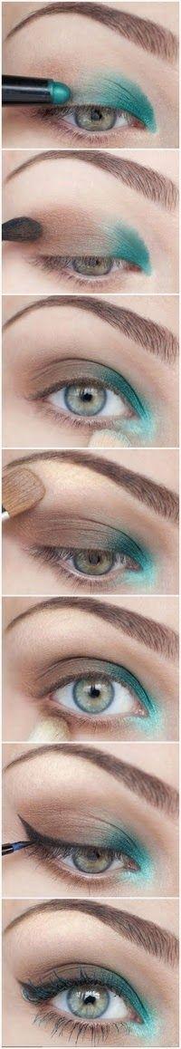 Tips para mujeres: Maquillaje de Sombras en Tonos verdes