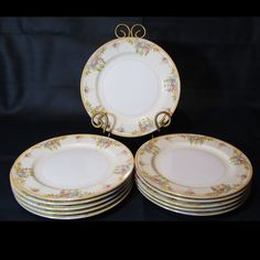 Vintage Kongo China Replacement China Lot of 11 Dinner Plates
