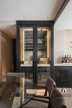 ♡ by Swissroc Home Wine Cellars, Wine Cellar Design, Home Bar Designs, Interior Decorating, Interior Design, Cabinet Design, Bars For Home, Built In Bar, Kitchen Design