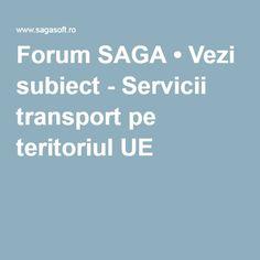 Forum SAGA • Vezi subiect - Servicii transport pe teritoriul UE