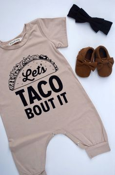 Taco romper/unisex romper/ babies and toddlers