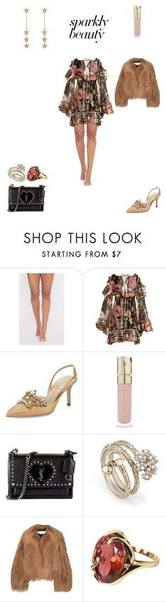 """""""Sparkle Sparkle Look"""" by kaya ❤ liked on Polyvore featuring Dundas, René Caovilla, Smith & Cult, Yves Saint Laurent, Gucci, Marni, Gemjunky, Jennifer Meyer Jewelry, contestentry and polyPresents"""