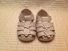 Healthtex Toddler Girls Shoes SANDALS Flowers WHITE Closed Toe VELCRO Size 2 in Clothing, Shoes & Accessories, Baby & Toddler Clothing, Baby Shoes | eBay