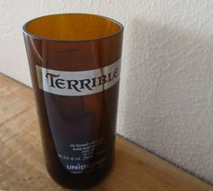 Upcycled Beer Bottle Glass Tumbler made from a TERRIBLE beer bottle $18.00