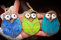 stain glass owls