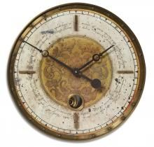 This Uttermost Leonardo Script Wall Clock has a classic look with a contemporary feel. With a weathered, laminated clock face with a cast brass outer rim, brass center components, and an internal pendulum, this clock is perfect for any decor. Cream Wall Clocks, Wall Clock Brass, Pendulum Wall Clock, Desk Clock, Script, Traditional Wall Clocks, Wall Clock Online, Tabletop Clocks, Cream Walls