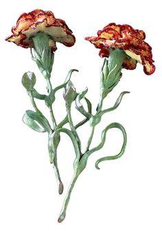 Merle, International Jewelry, Carnations, Beaded Flowers, Jewelry Design, Plants, Brooches, Flora, Jewellery