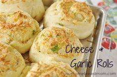 Herb & Cheese Rolls  yourhomebasedmom.com