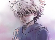 This picture really seems to capture Killua's character to me. I mean, yes Killua is happy sometimes and he's fun and encouraging to Gon. But I think that Killua is so sad and lost inside. He's looking for the light but it just keeps running away from him.