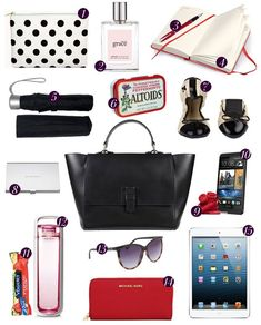 15 Essentials to Have in Your Work Bag - women's purses for sale, purse online shop, ladies black handbags *ad What's In My Purse, Work Purse, Work Bags, Work Bag Essentials, Travel Essentials, What In My Bag, What's In Your Bag, Inside My Bag, Working Woman