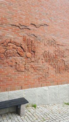Uddevalla.  Bohusläns Museum Sculpture Art, Sculptures, Brick Art, Brick Detail, Bad Art, Alvar Aalto, Bricks, Coffee Shop, Doodle