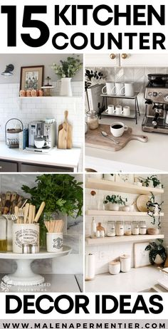 Seriously the BEST ideas for decorating your kitchen counter top. Cute Kitchen, Awesome Kitchen, Kitchen Items, Kitchen Inspiration, Home Decor Inspiration, Decor Ideas, Kitchen Countertop Decor, Kitchen Decor, Home Organization Hacks