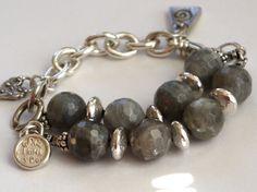 labradorite Bracelet Artisan Sterling Silver