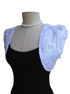 White Floral Emboidery Lace Boleros, Shrugs Cardigans