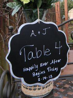 5 DIY Fancy Magnetic Chalkboard Wedding by LetsTalkChalk on Etsy, $45.00
