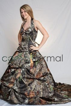 camouflage prom dresses | Search results for camo dresses with orange Camouflage Prom Wedding ...