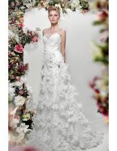 Trägerloses Traumhafte Luxuriöse Brautkleider aus Softnetz 1209