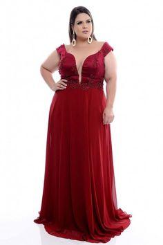 Vestido Plus Size Red Power