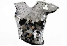 Maison Martin Margiela disco ball one shoulder artisanal top