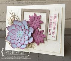 Stampin' Up! Oh, Succulent Bundle - Wickedly Wonderful Creations: Fab Friday #104