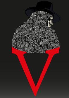 V for Vendetta type poster by Jack Haynes