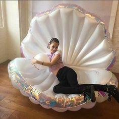 Mermaid Theme Birthday, Swimming Pool Water, Mermaid Room, Giant Inflatable, Water Toys, Water Play, Floating, Pool Toys, Sea Shells