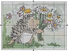 Hedgehog cross stitch (not a direct link, link not in English).