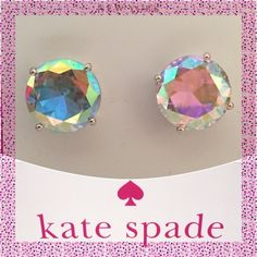 TAKE 40% OFF ♠️Kate Spade Aurora Borealis Earrings ✨ Kate Spade ♠️ Large Aurora Borealis Gumdrop Earrings • Posts are made of Rhodium & are Nickel Free for sensitive ears •  Includes dust bags • smoke free home • 20% donated to the American Cancer Society • IF INTERESTED LET ME KNOW & I WILL MAKE YOU A NEW LISTING AS I HAVE 2 • Thanks & Happy Poshing! ✨ kate spade Jewelry Earrings