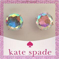 Kate Spade♠️Large Aurora Borealis Gumdrop Earrings Kate Spade ♠️ Large Aurora Borealis Gumdrop Earrings kate spade Jewelry Earrings