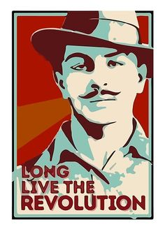 'Shaheed Bhagat Singh Revolution' Poster by inkstyl Bhagat Singh Quotes, Bhagat Singh Wallpapers, Freedom Fighters Of India, Indian Army Wallpapers, Revolution Poster, India Poster, Indian Constitution, Hindu Rituals, Productive Things To Do