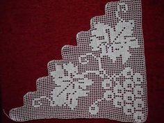 Home Decor ideas &Home Garden & Diy Crochet Dollies, Crochet Lace Edging, Crochet Borders, Crochet Round, Filet Crochet, Crochet Stitches, Crochet Patterns, Crochet Bedspread, Square Patterns