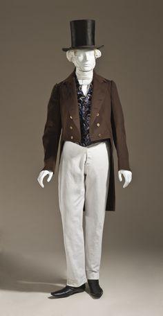 1845, Scotland - Man's Tailcoat - Wool plain weave, full finish