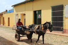 #cuba #ville #trinidad #city #town #charrette #horse #cheval