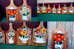 quadrinhos de mosaicos com porcelanas feitos com tabuas de carne R$ 95,00